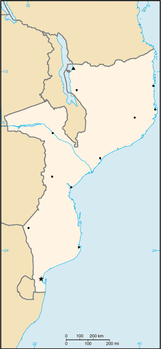000 Mozambiku Harta large map