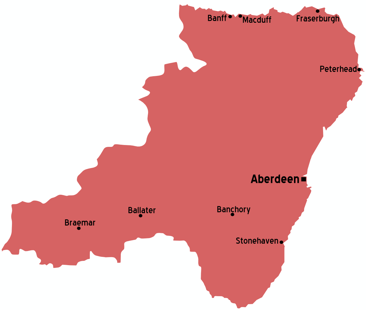 Aberdeenshire Scotland Map • Mapsof.net
