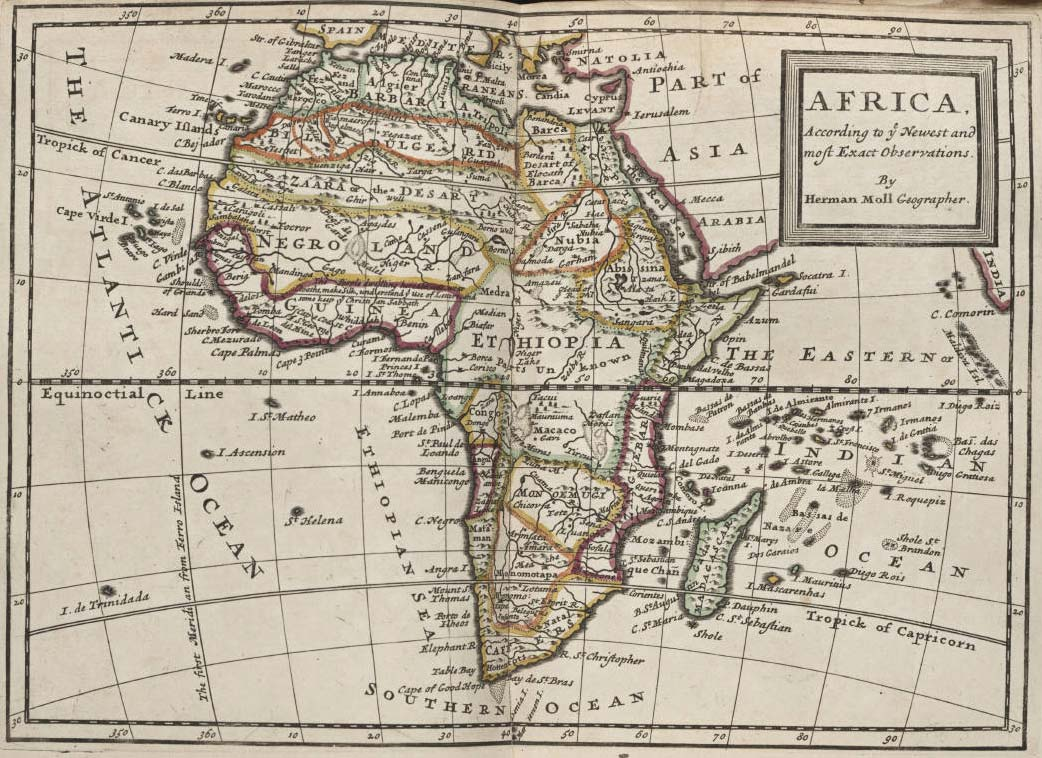 Africa Political And Historical Map large map