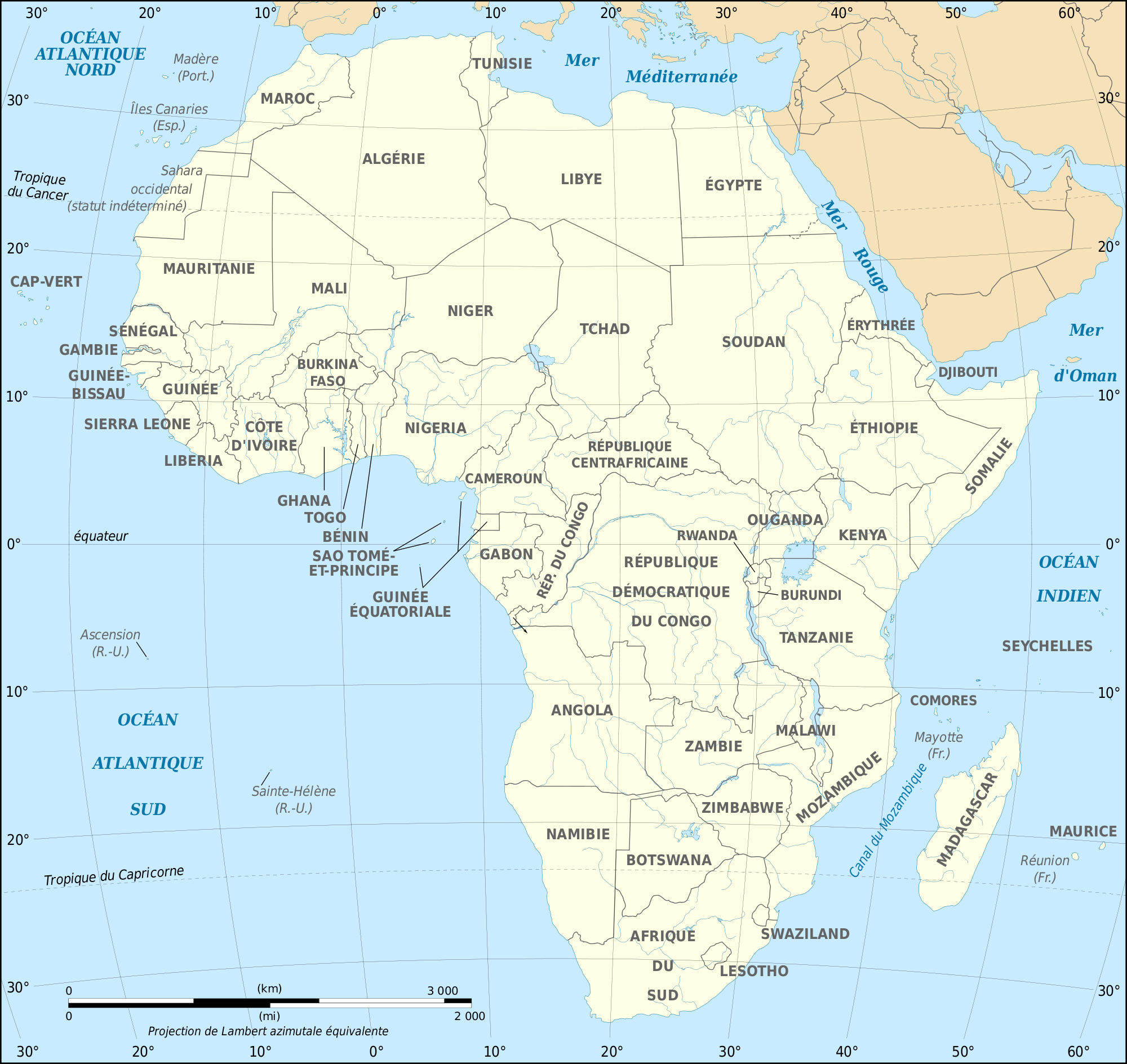 African Continent Fr Mapsofnet - What continent is israel in