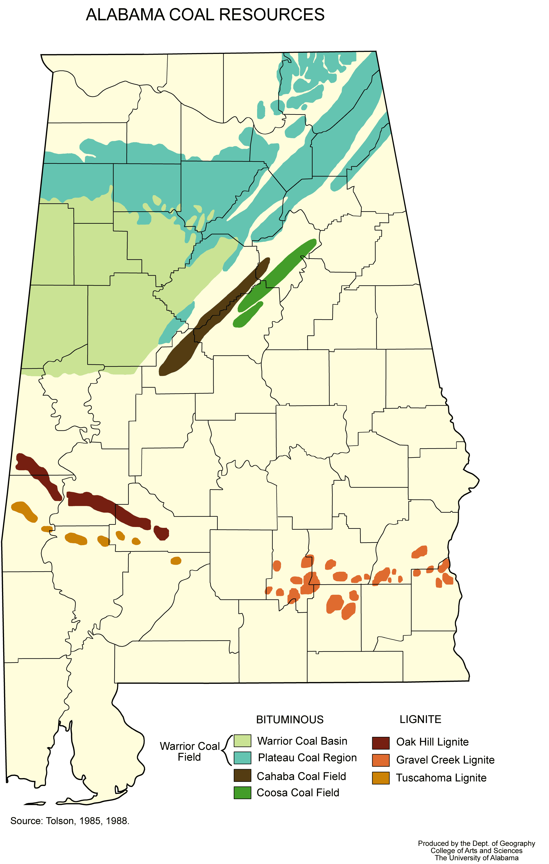 Alabama Coal Resources large map