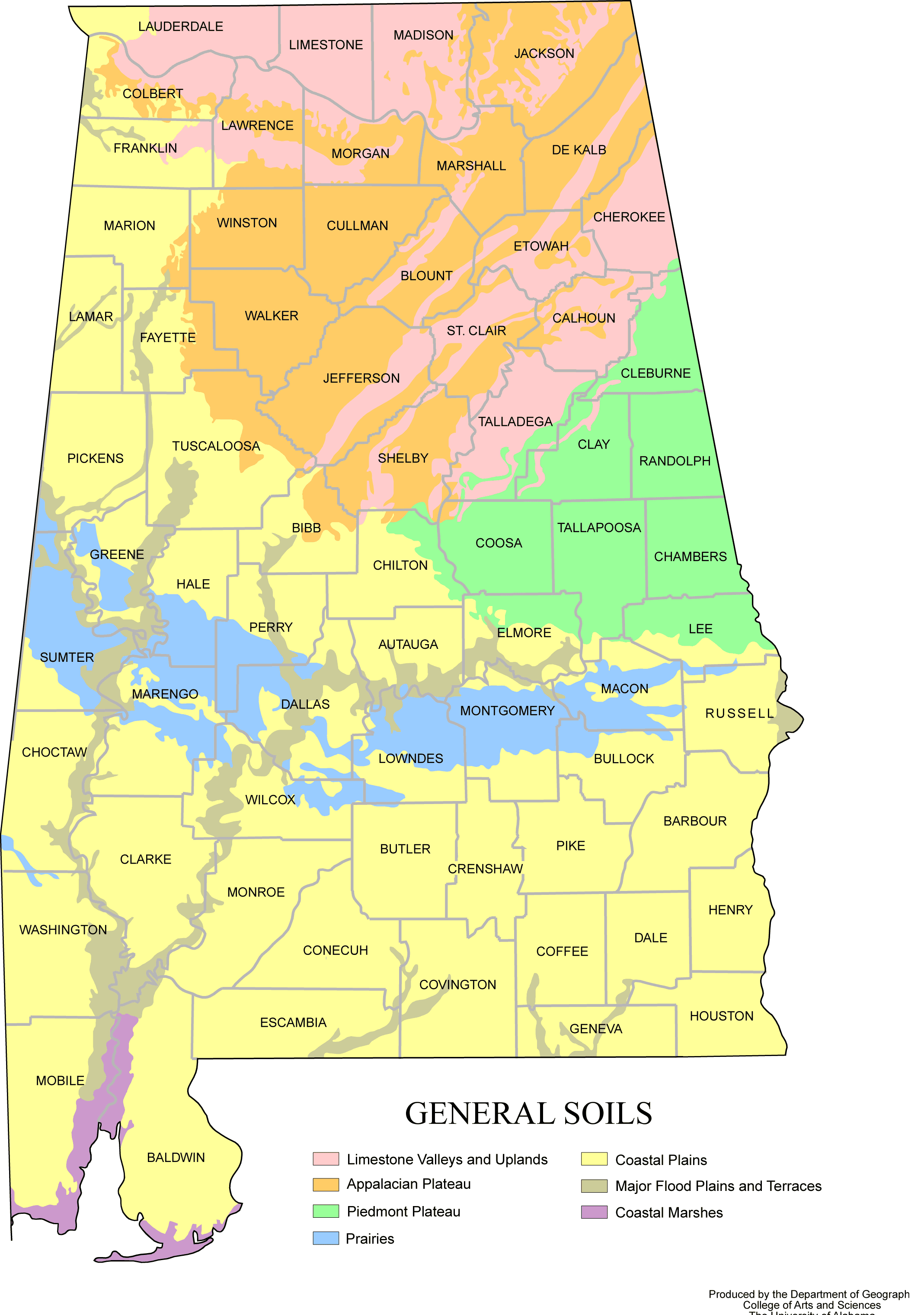 Alabama Map Soils Mapsofnet - Alabama rivers map