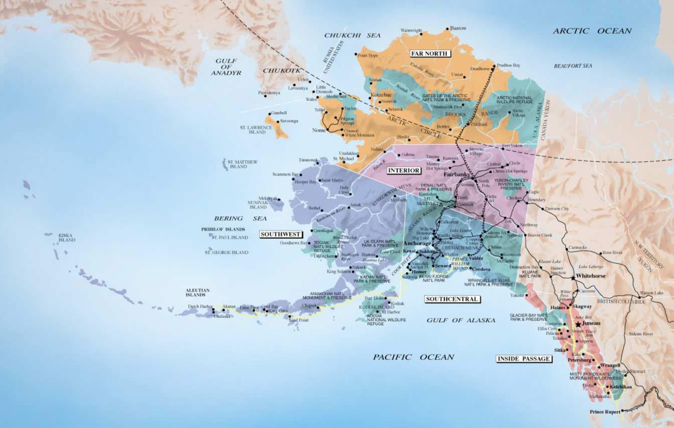 Alaska Map large map