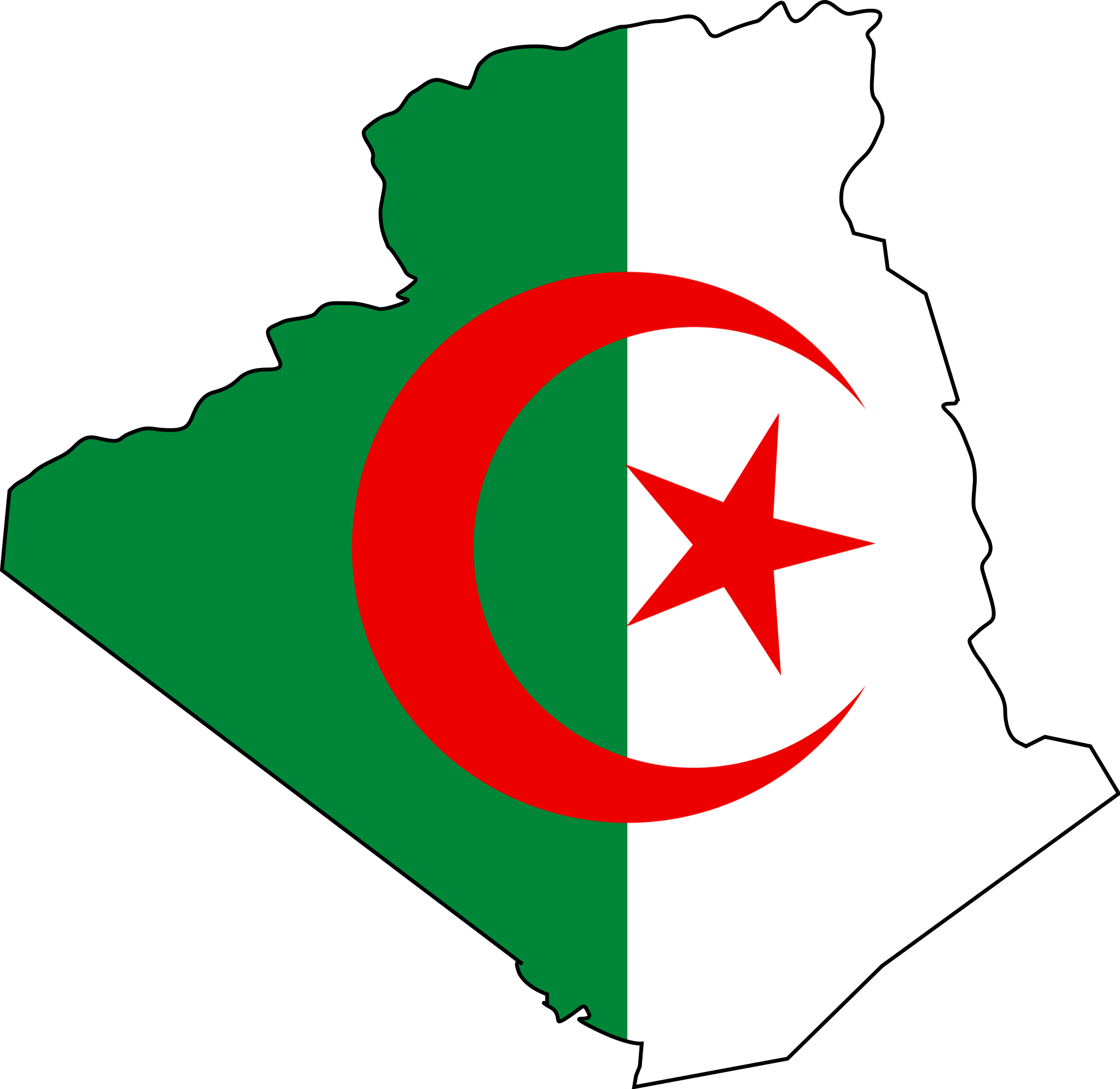 Algeria Flag Map