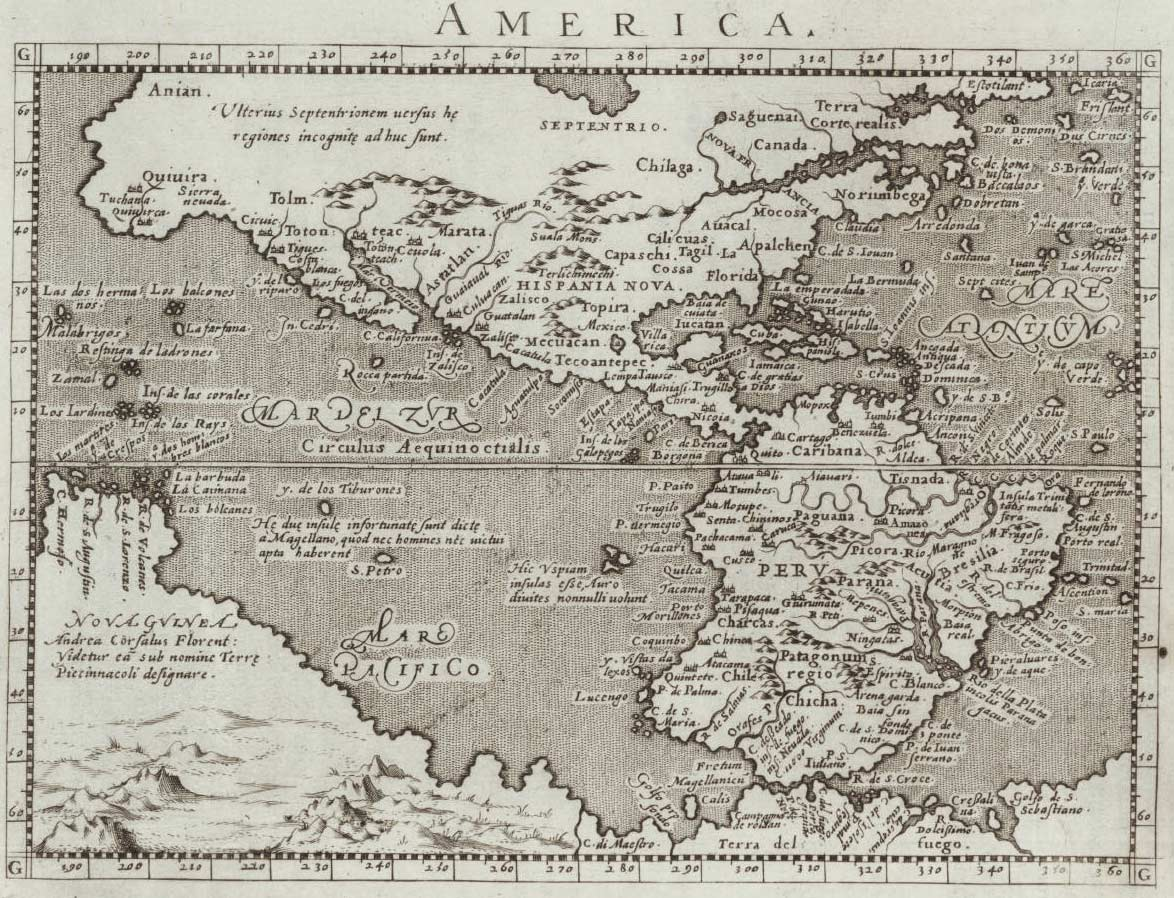 America Historical Map large map