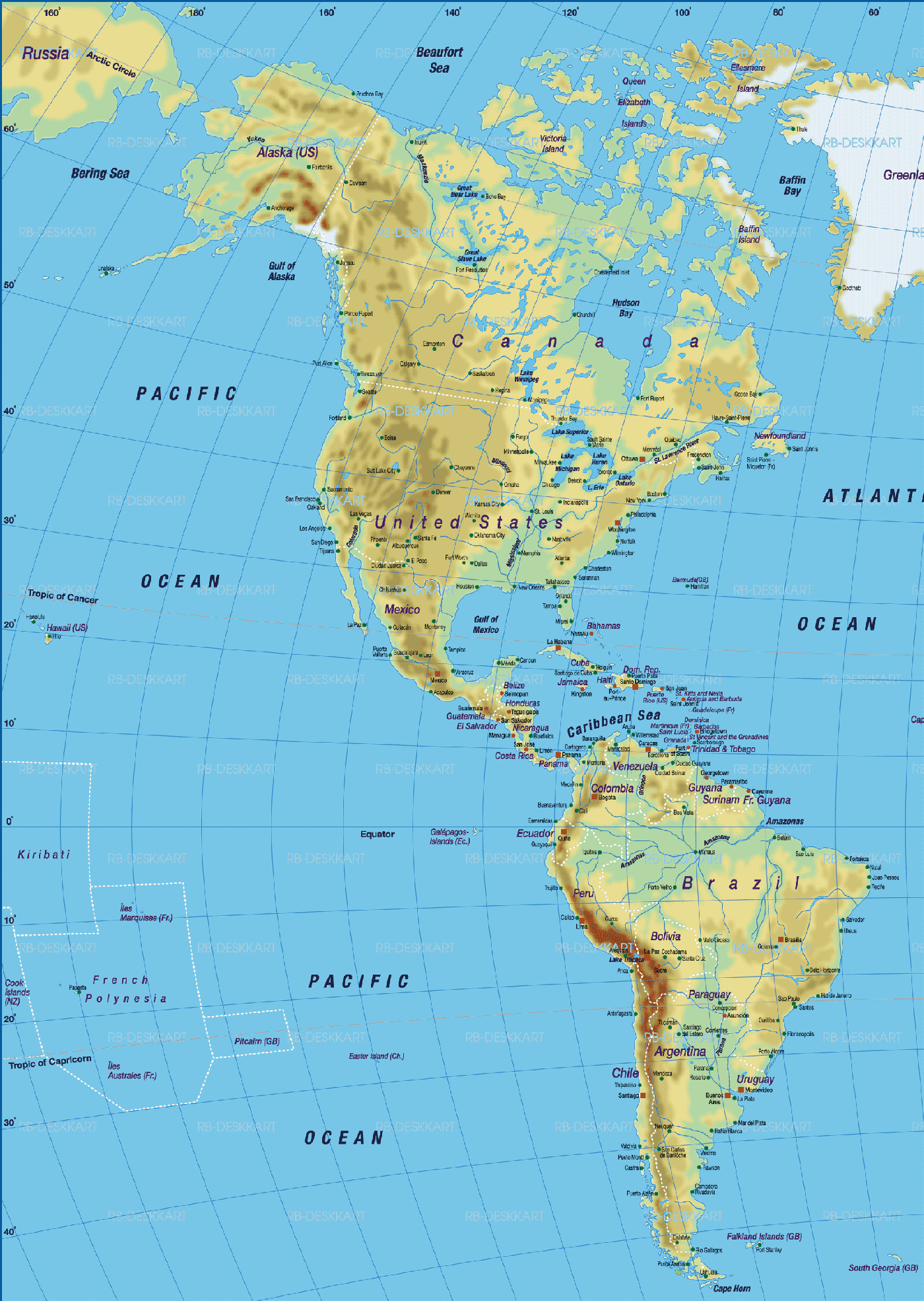 World And USA Maps For Sale Buy Maps Mapscom Physical Map Test - Physical map of western us