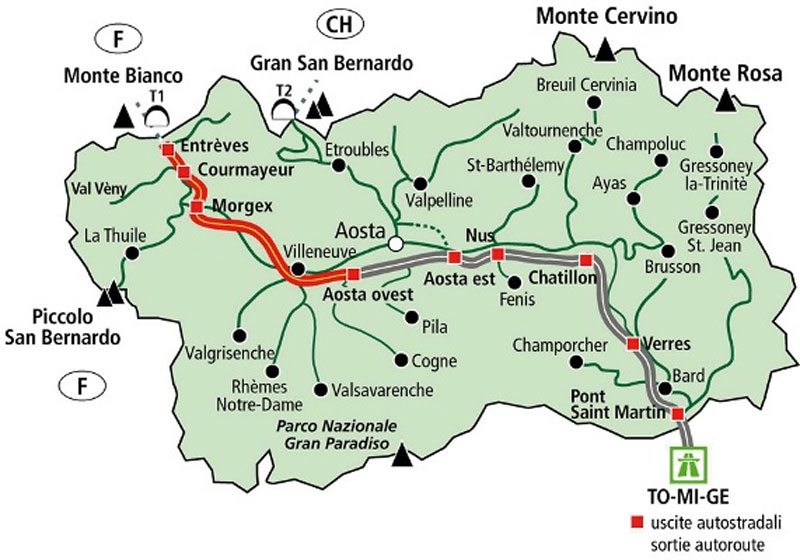 Aosta Valley Map 2 3 Mapsofnet