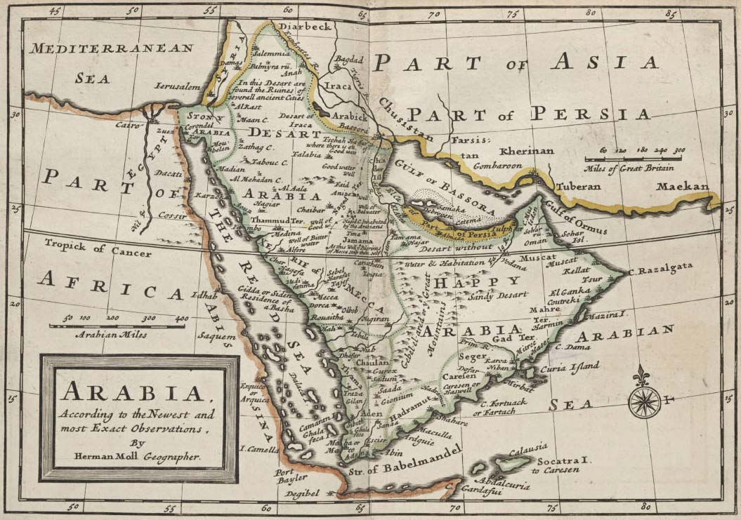 Arabia Historical Map Mapsofnet