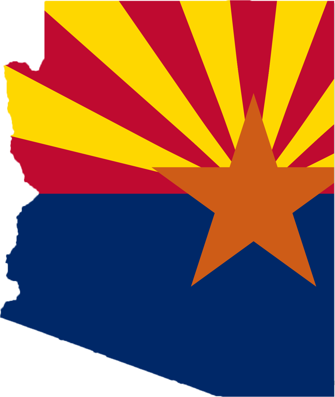 Arizona Flag Map large map