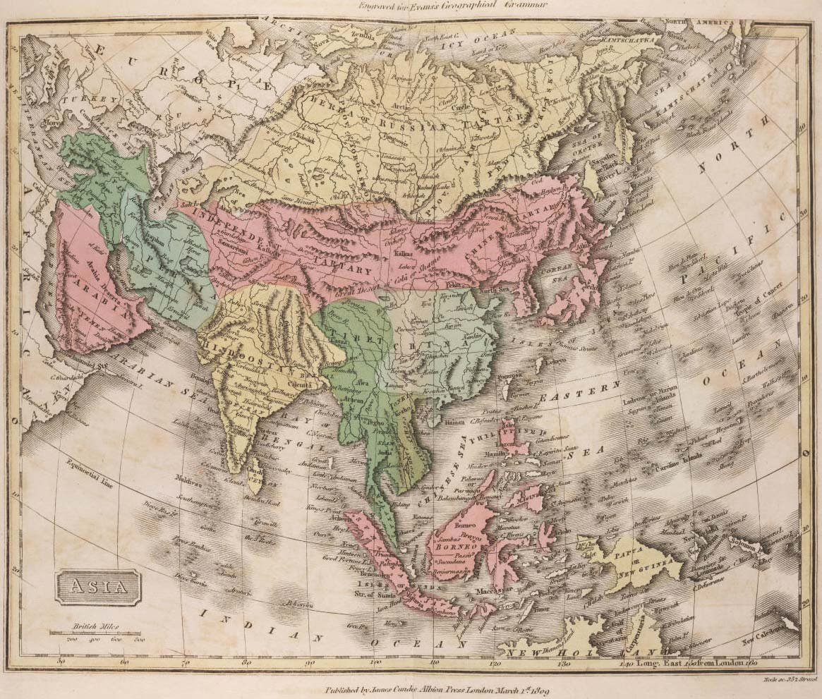 Asia Historical Map large map