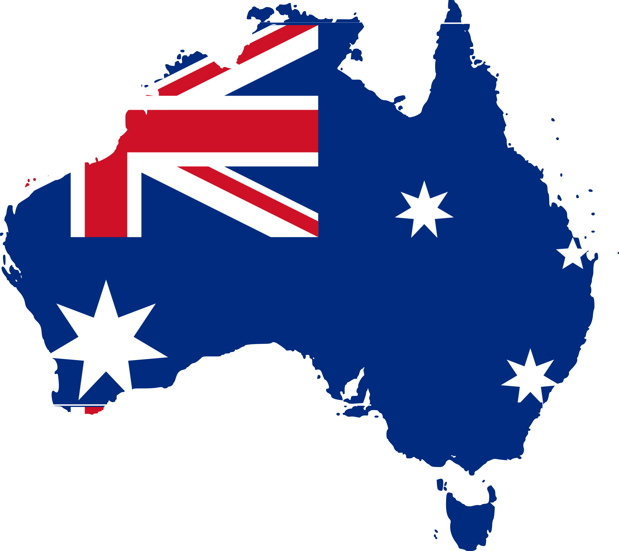 Australia Flag Map large map