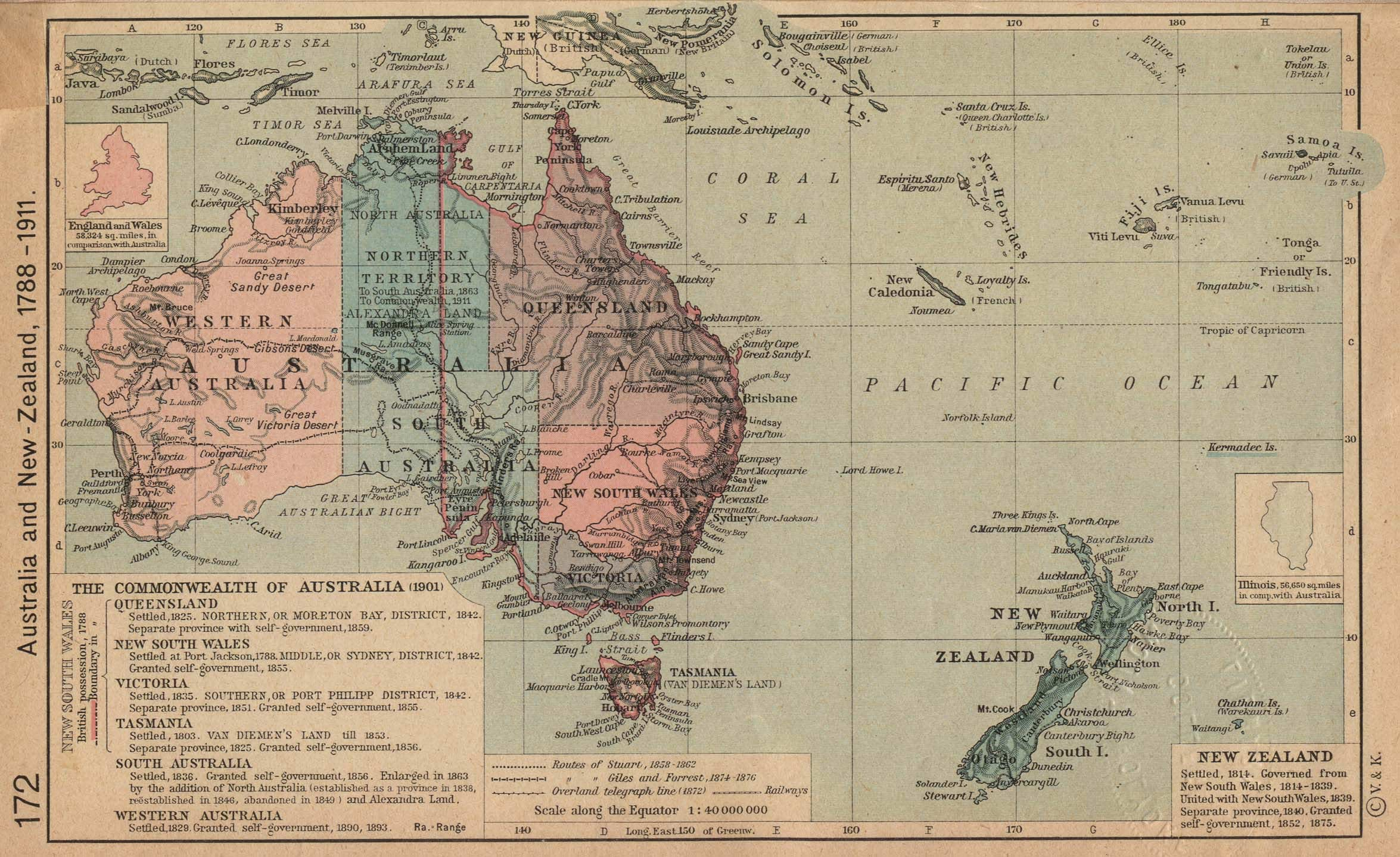 Large Map Of Australia.Australia Historical Map Mapsof Net