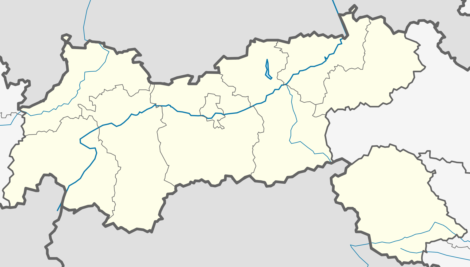 Austria the Tyrol Location Map Mapsofnet