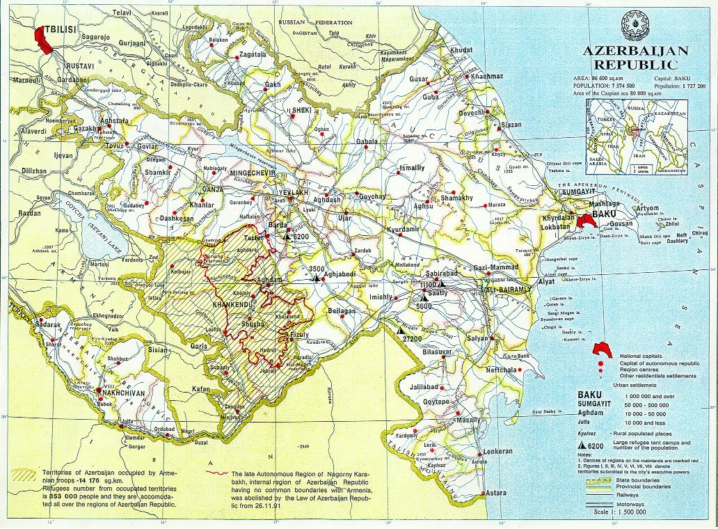 Azerbaijan Map Detail Mapsof Net