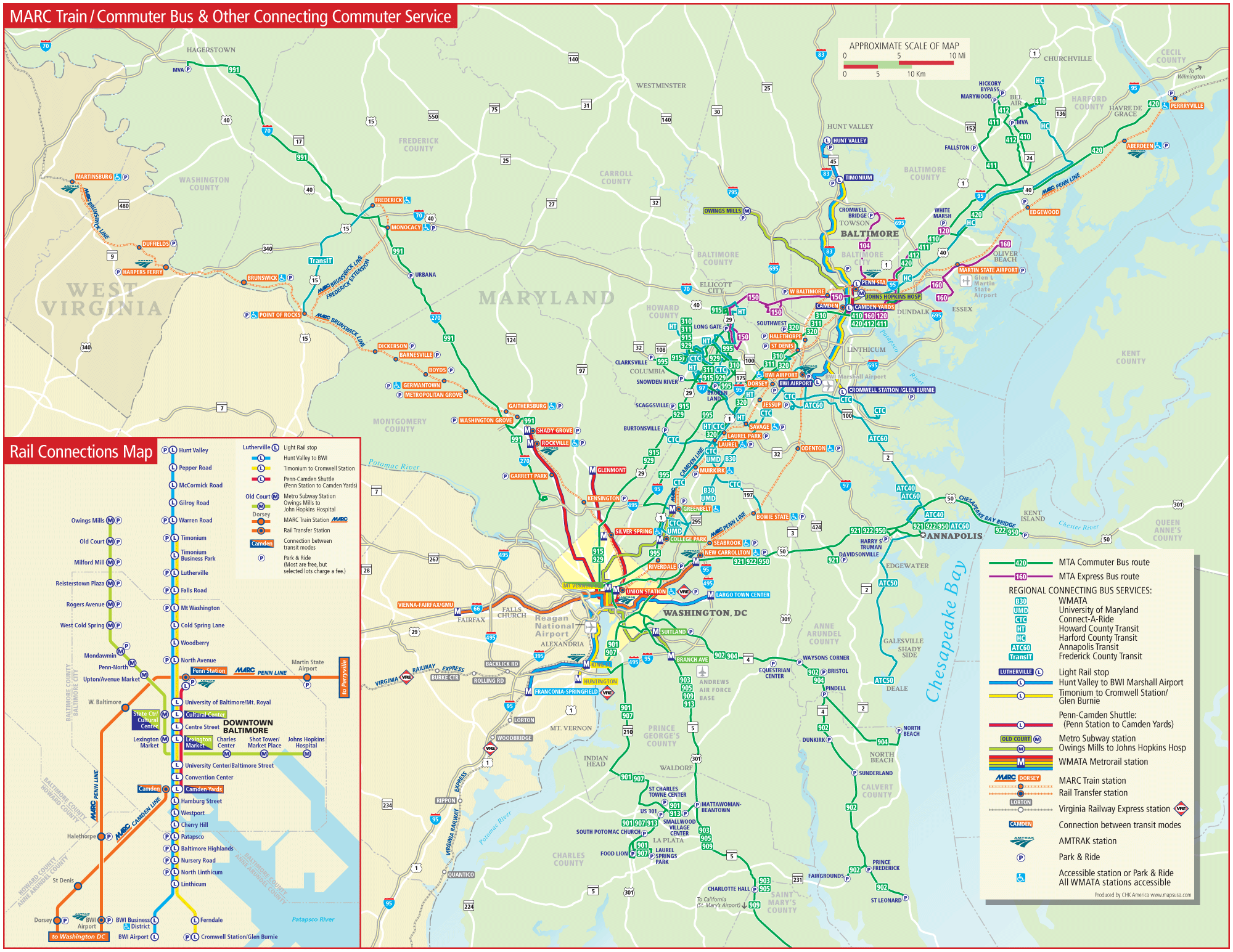 Baltimore Commuter Bus Map link Mapsofnet