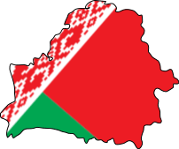 Belarus Flag Map large map