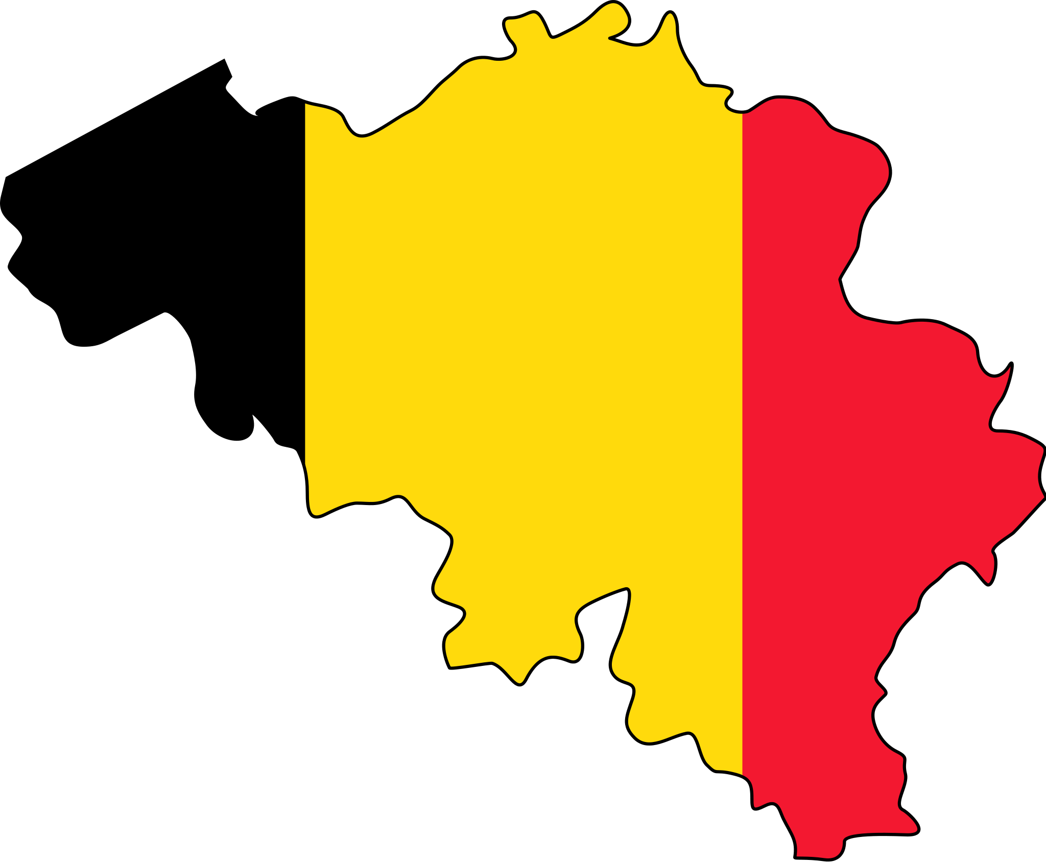 Belgium Flag Map Mapsofnet