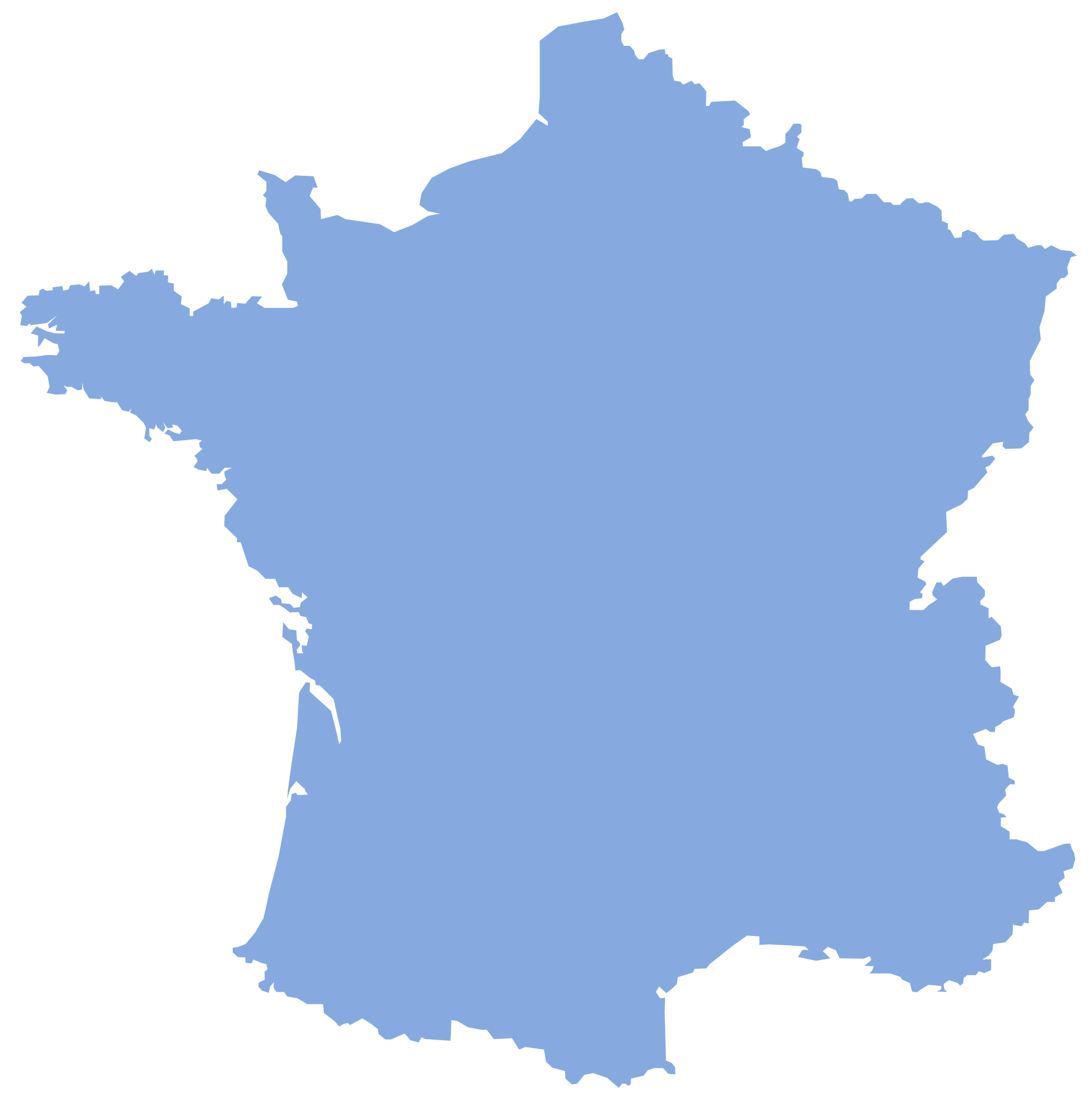 Blank France Map large map