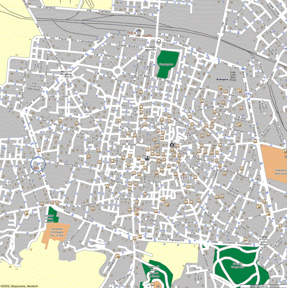 Tourism City Map Bologna Mapsofnet