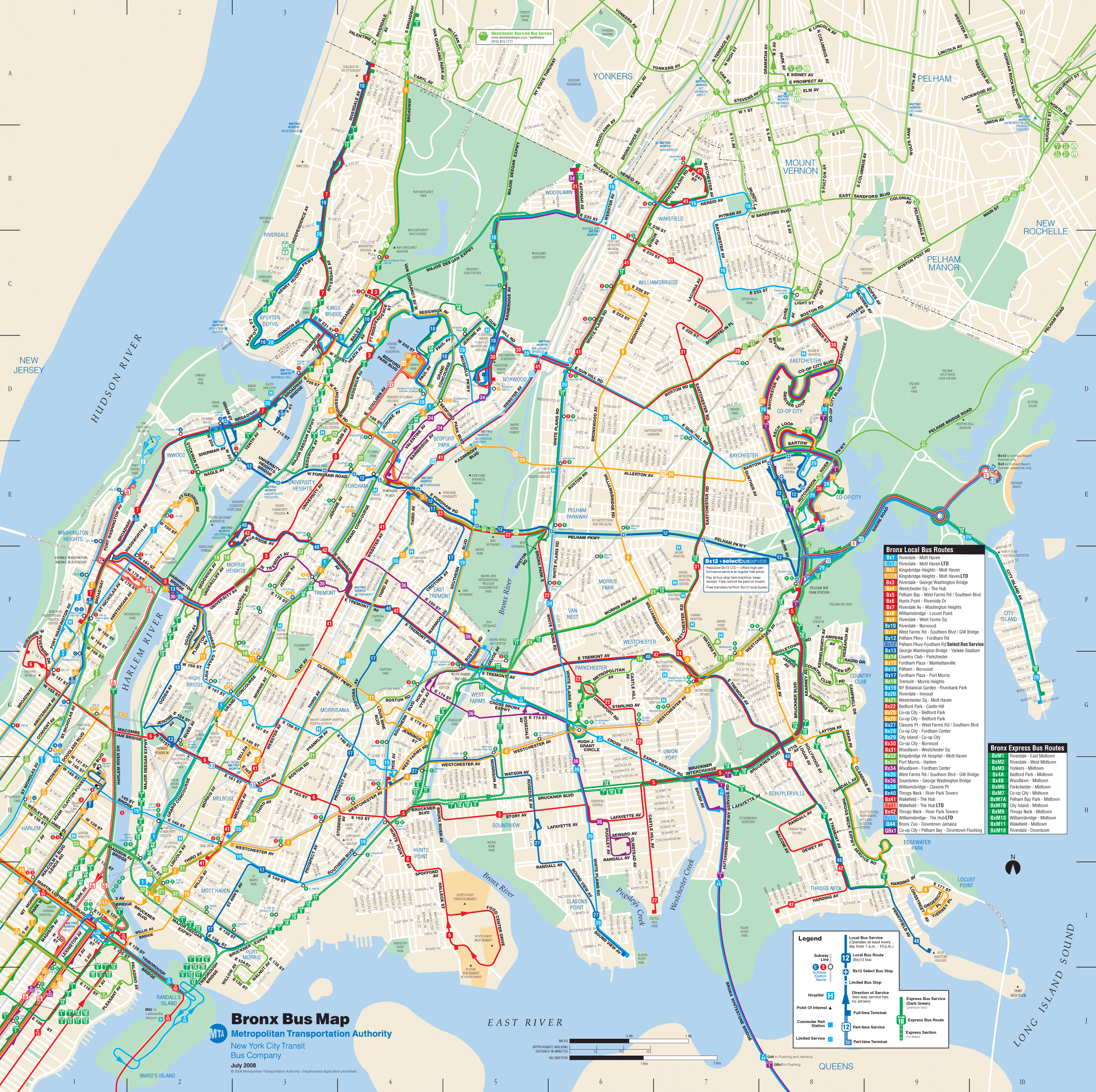 Bronx Bus Map Mapsofnet