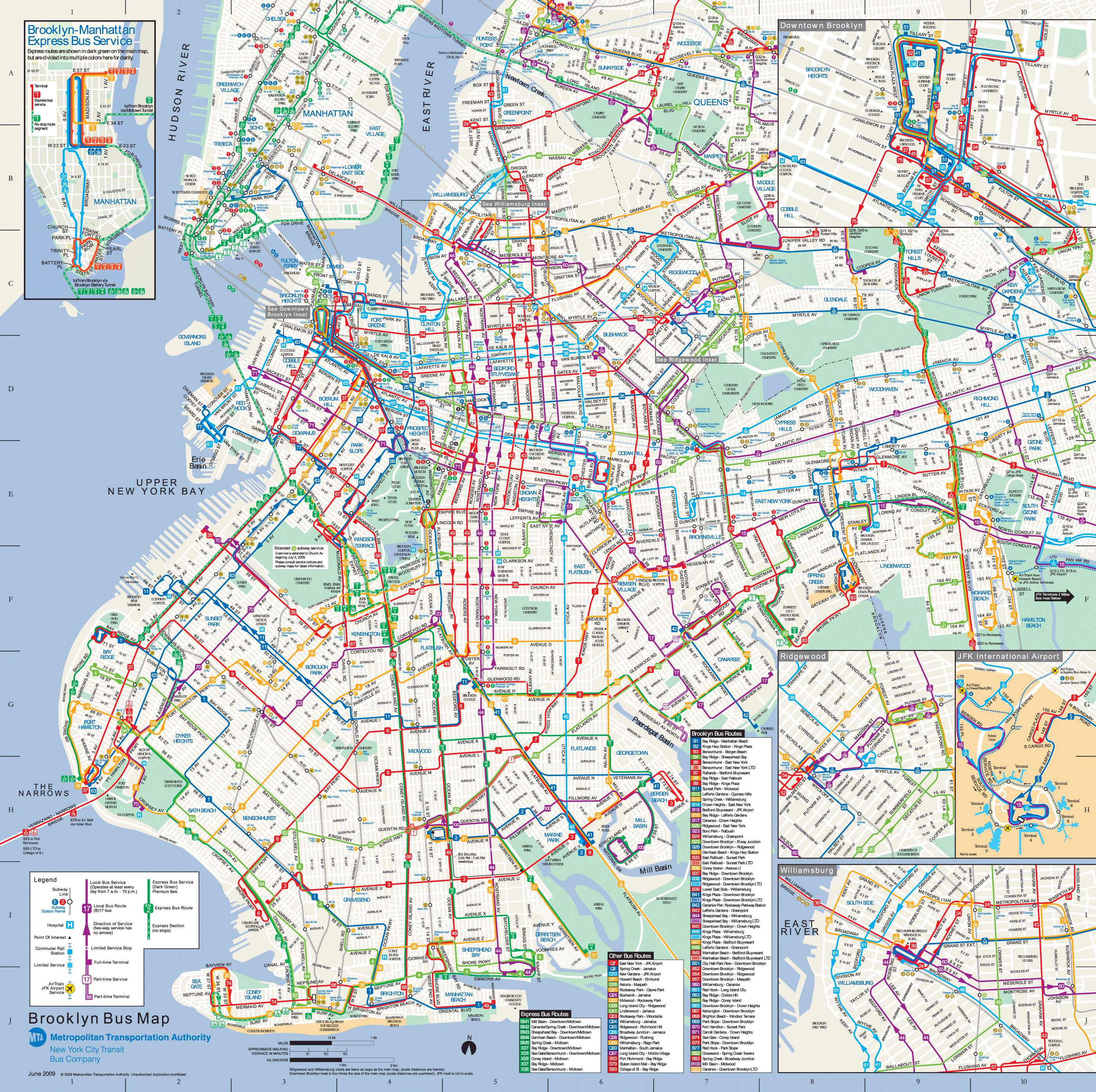 Brooklyn Bus Map Mapsofnet