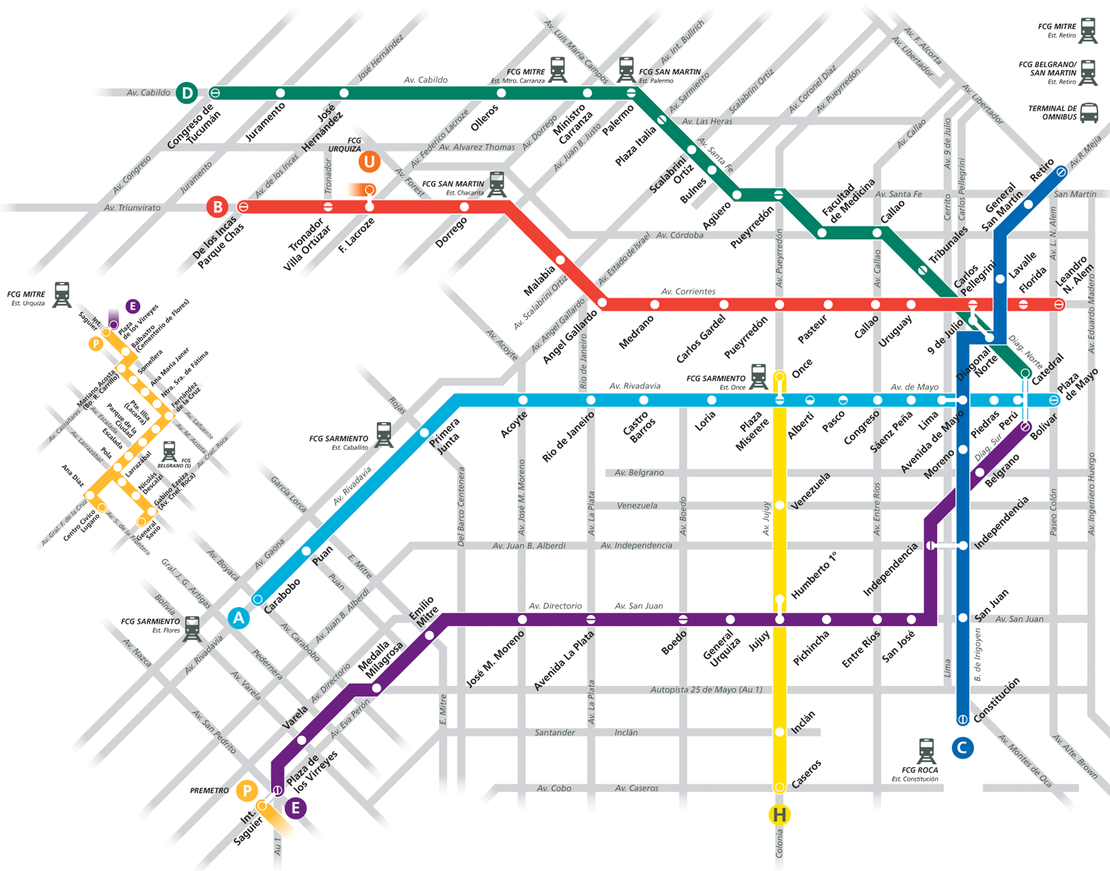 ... Buenos Aires Subway Map ...