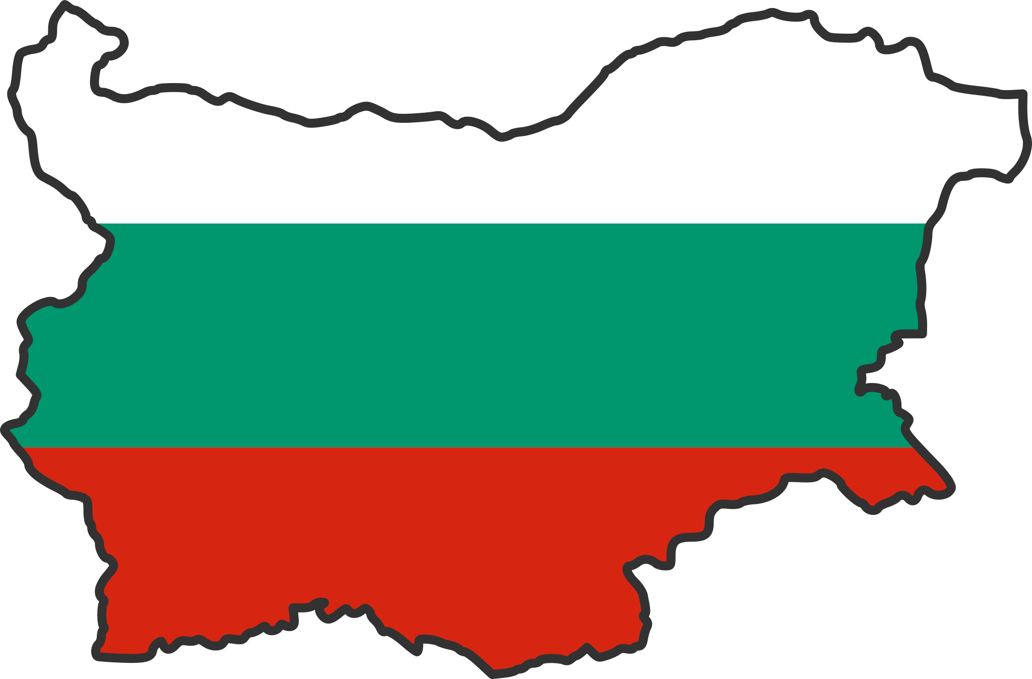 Bulgaria Flag Map large map