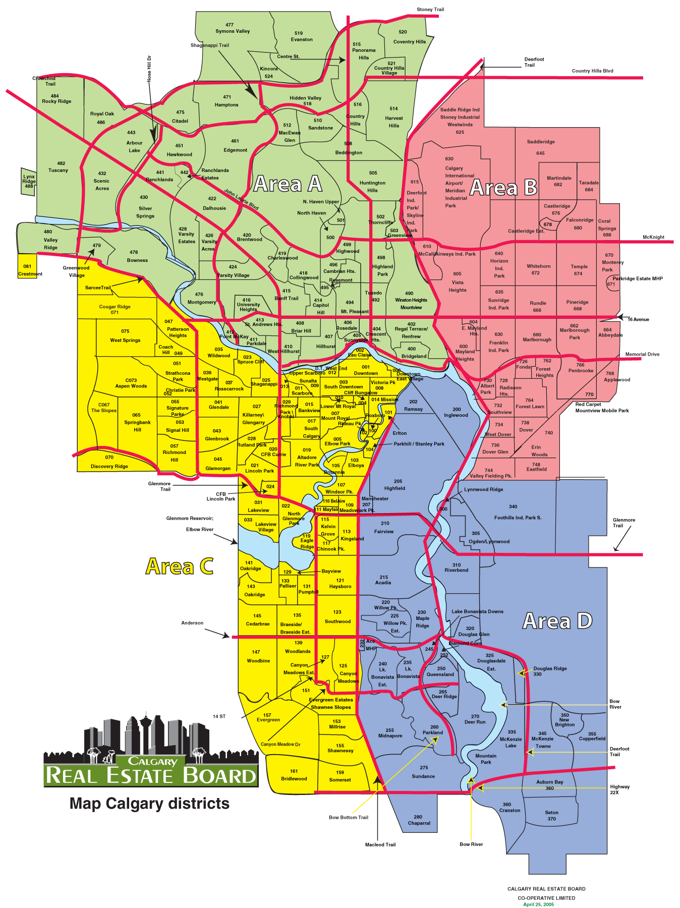Calgary Zones Map Mapsofnet