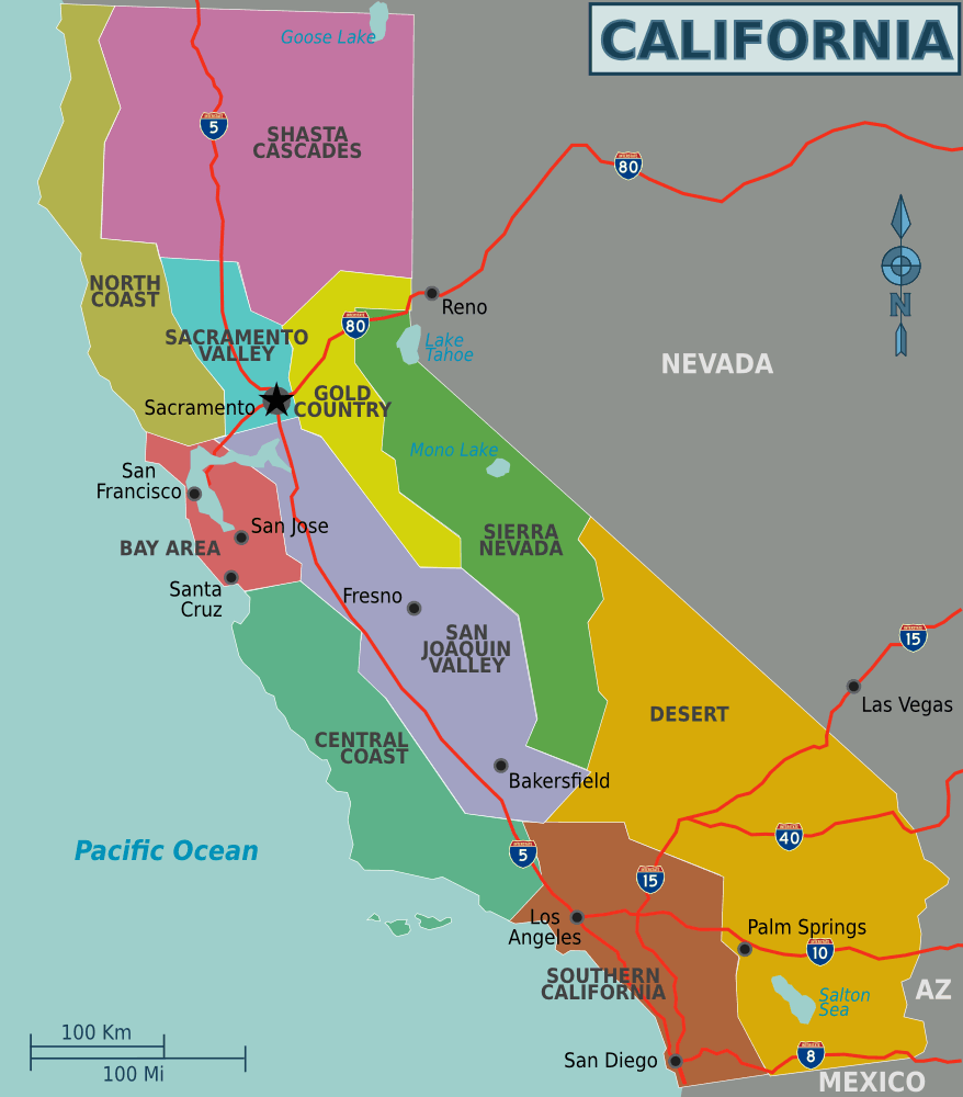 California Regions Map