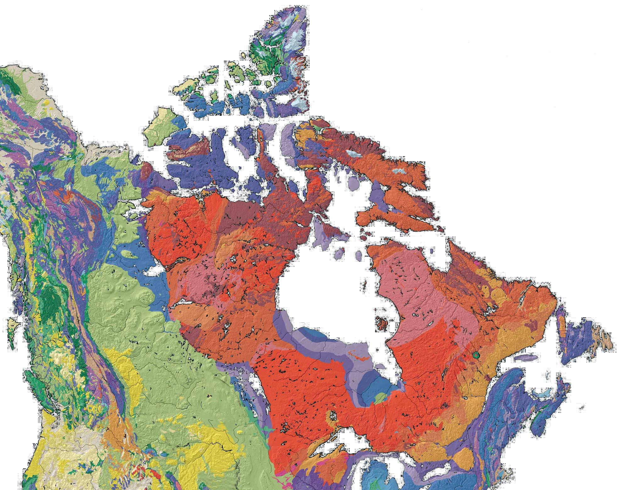 Canada Geological Map large map