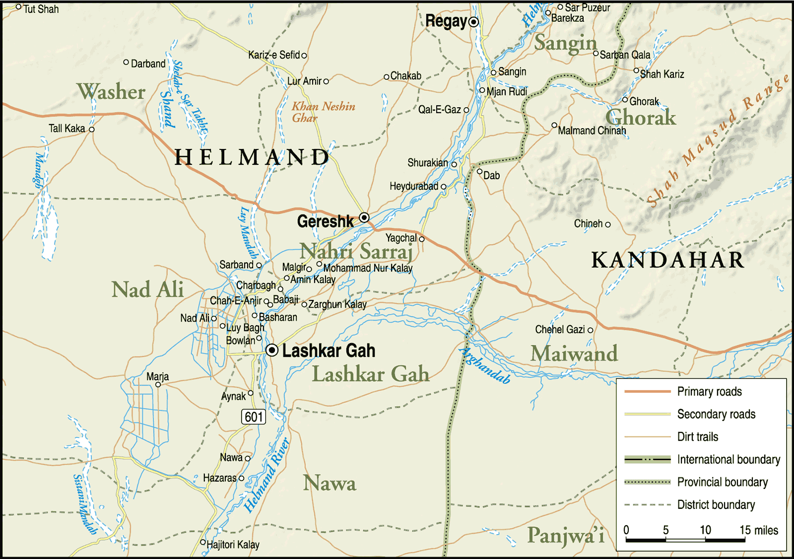 Central Helmand Province large map