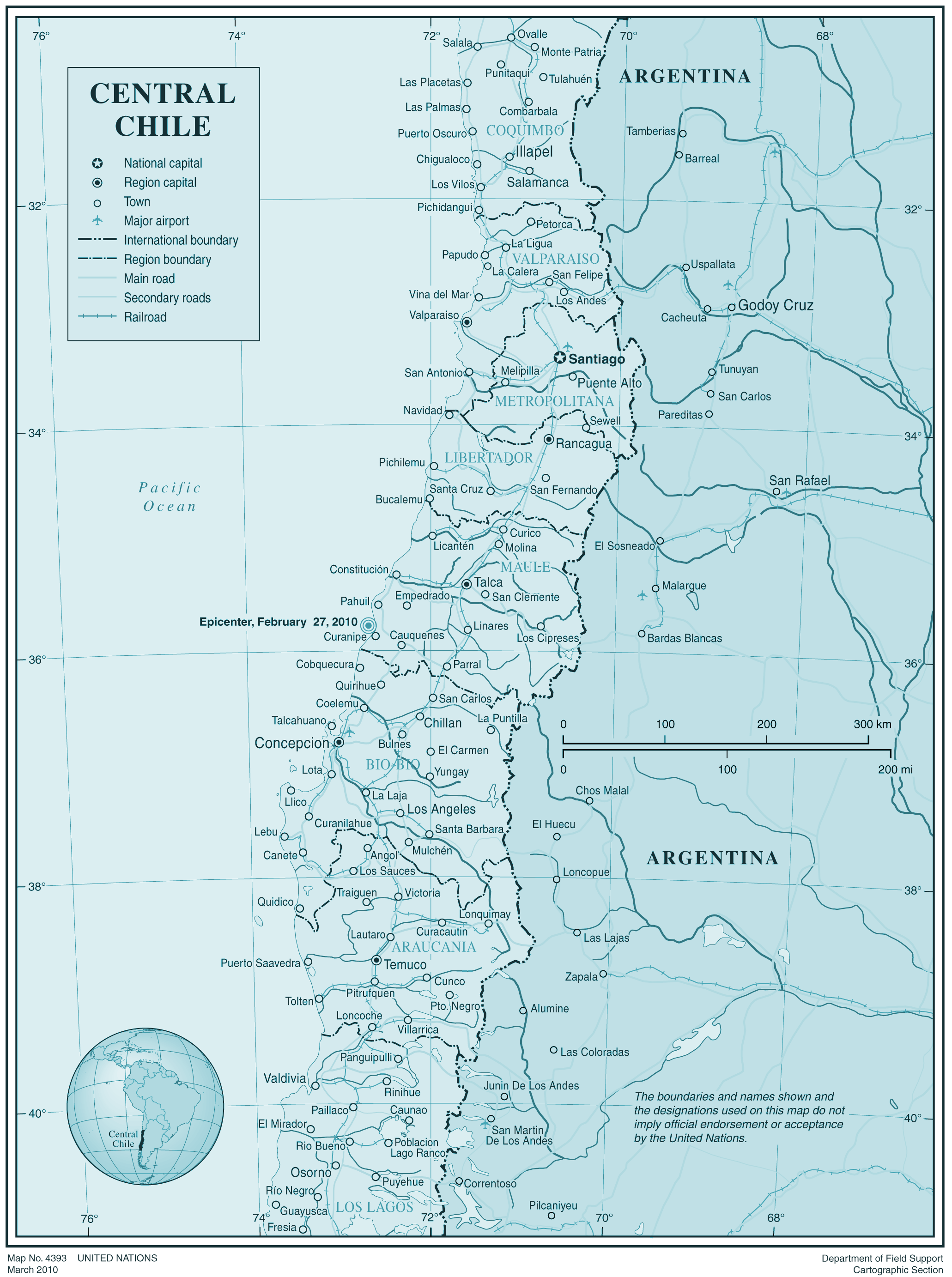 Centralchile large map