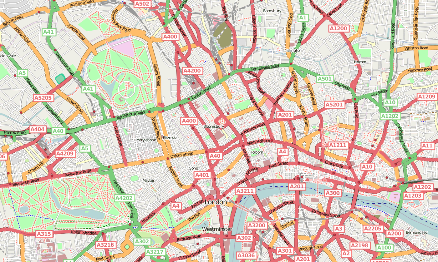 Central London Mapsofnet – Tourist Map of Central London