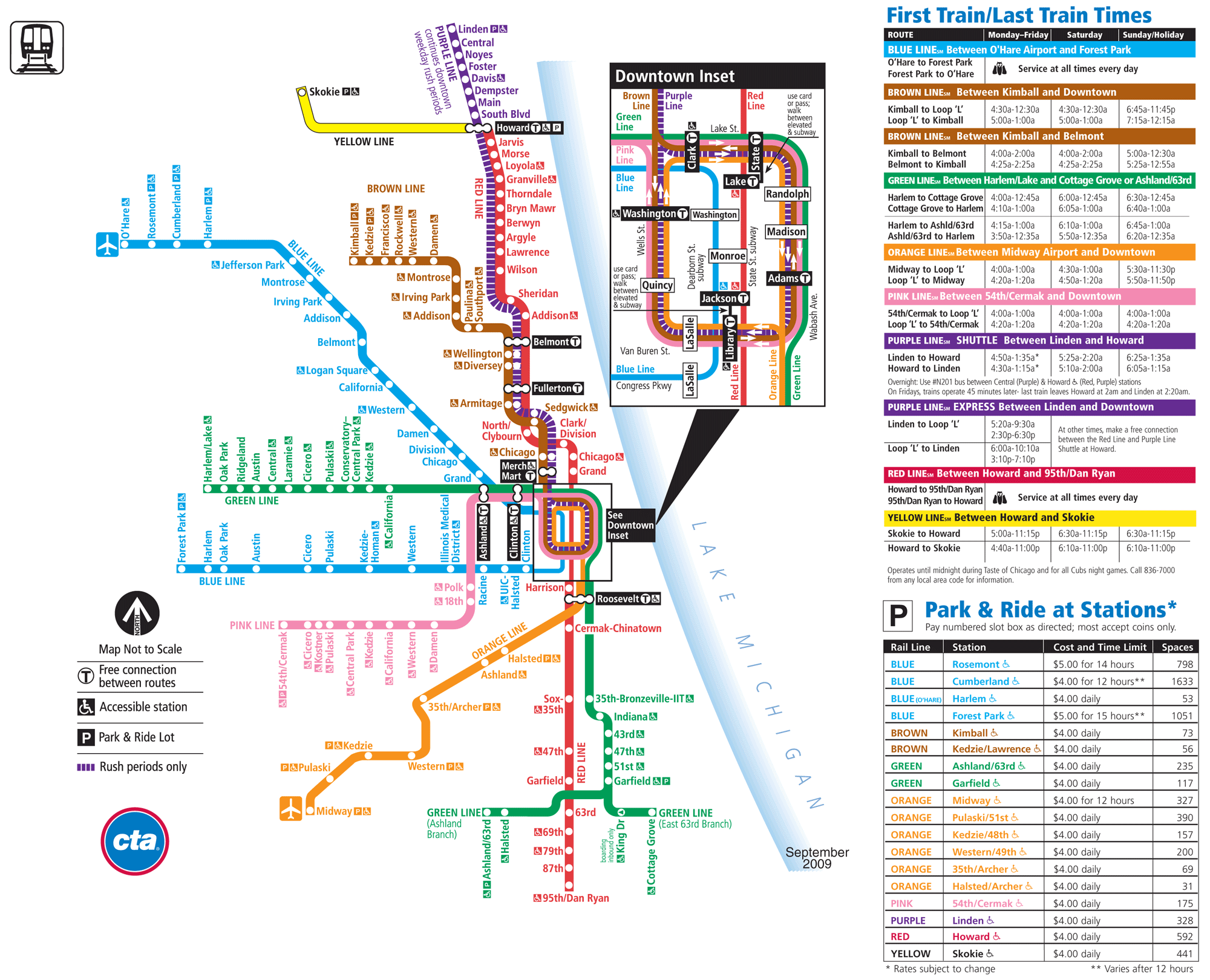 Chicago Metro Map World Map - Chicago map attractions