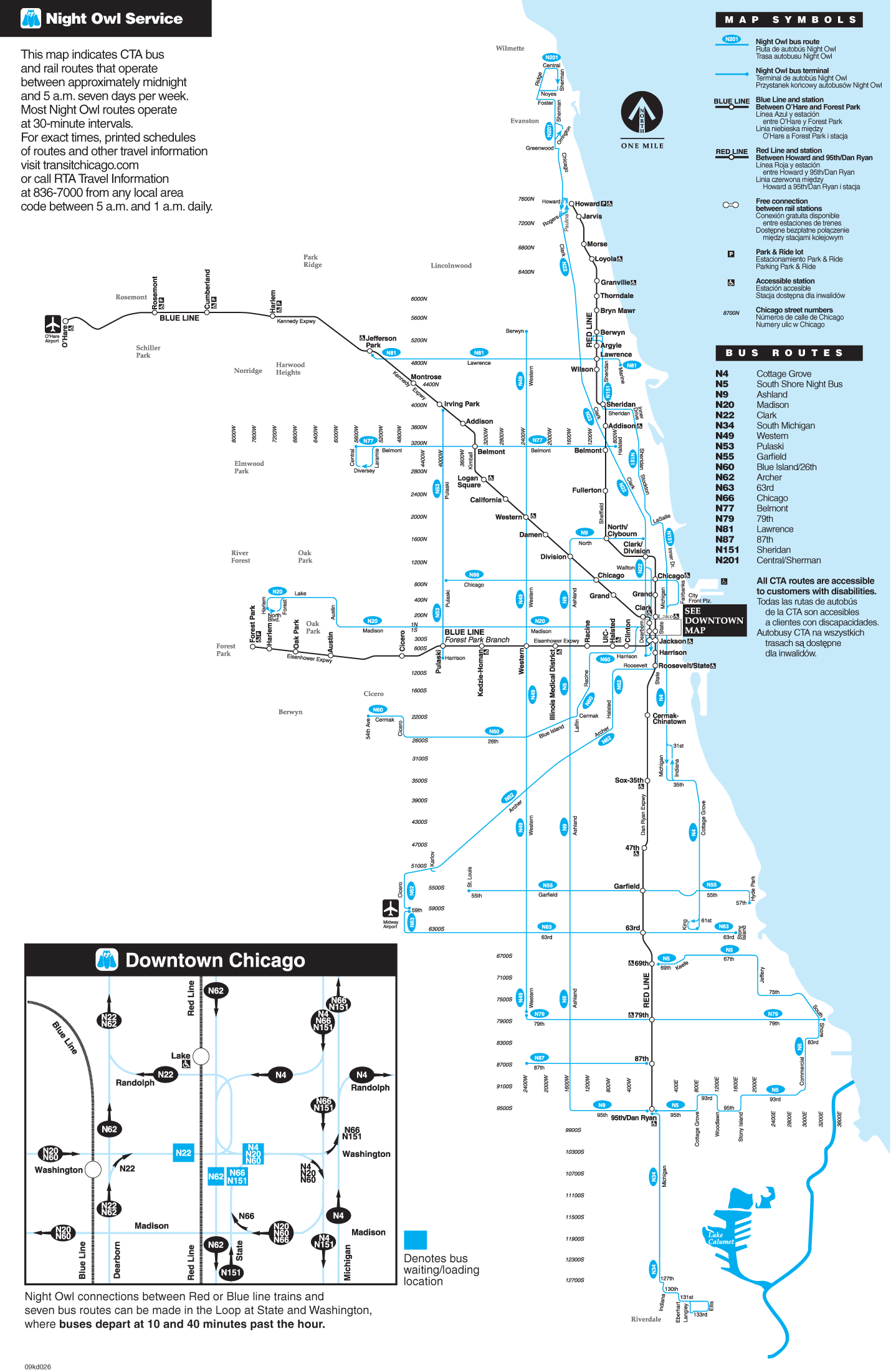 Chicago Bus Map