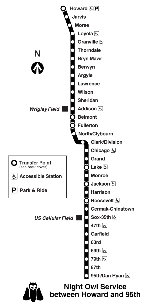 Chicago Subway Map Wrigley Field.Chicago Red Line Train Map Metro System Mapsof Net