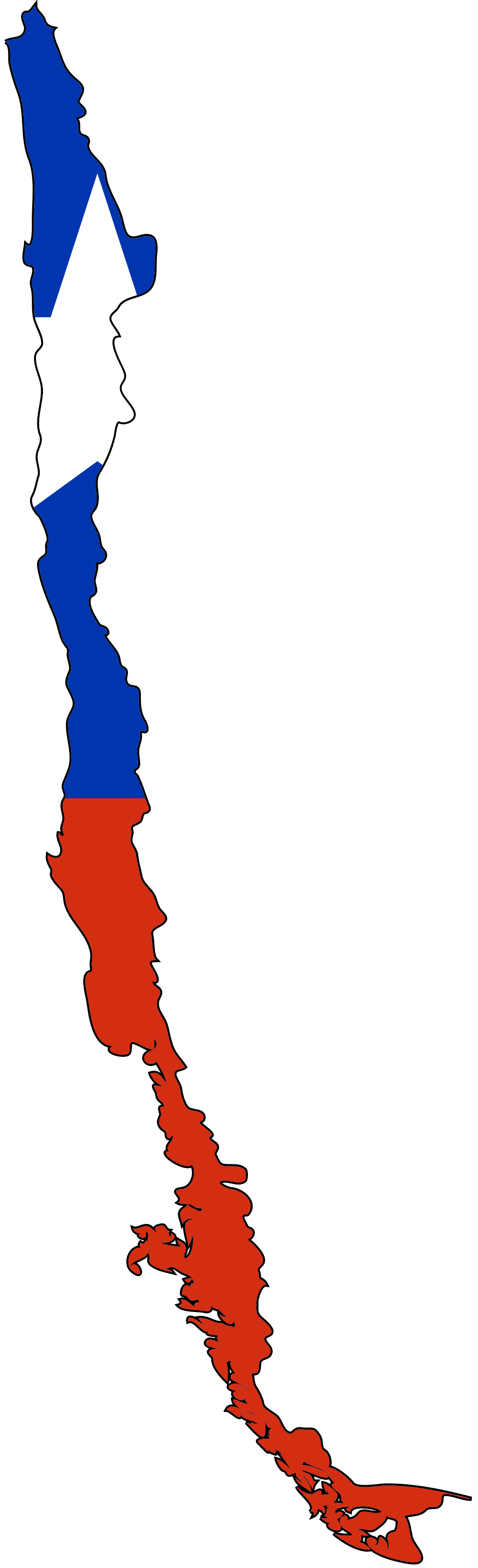 Chile Flag Map large map