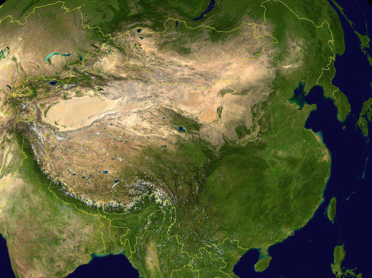 China Satellite Photo large map