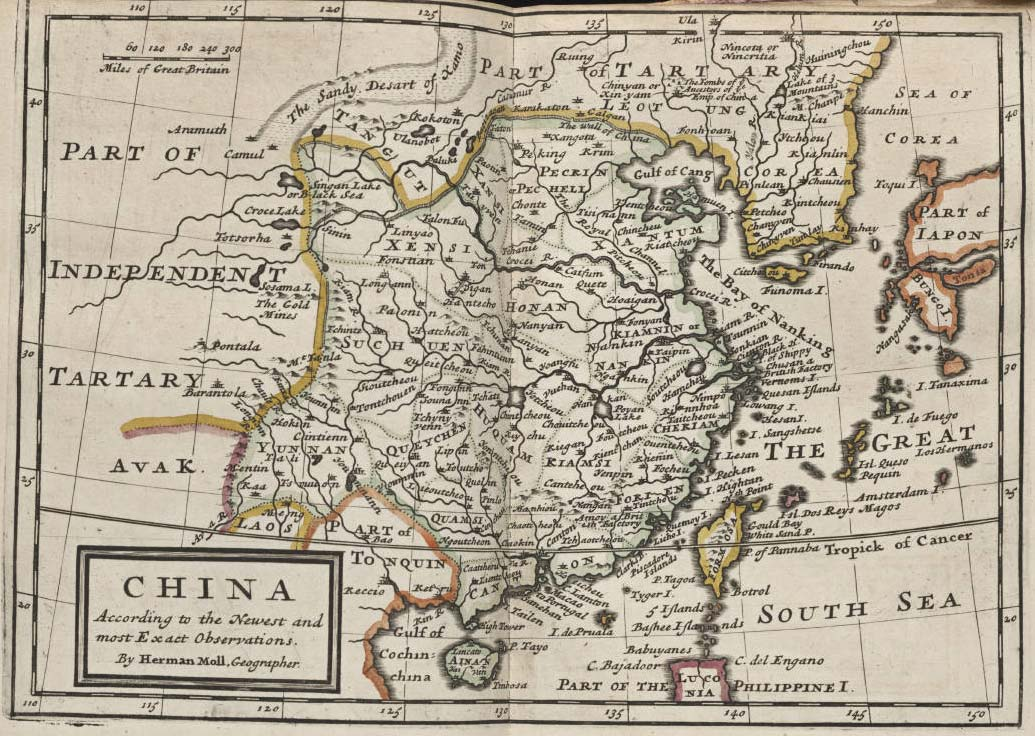China Historical Map large map