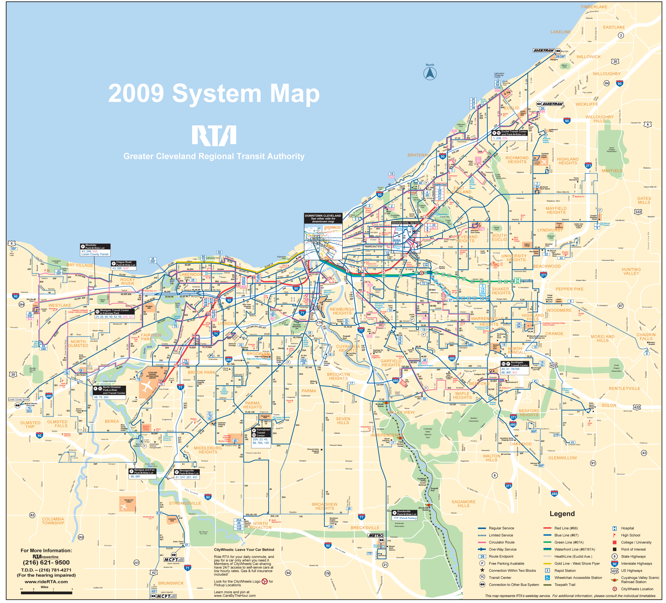 Cleveland Transport Map Mapsofnet - Cleveland us map