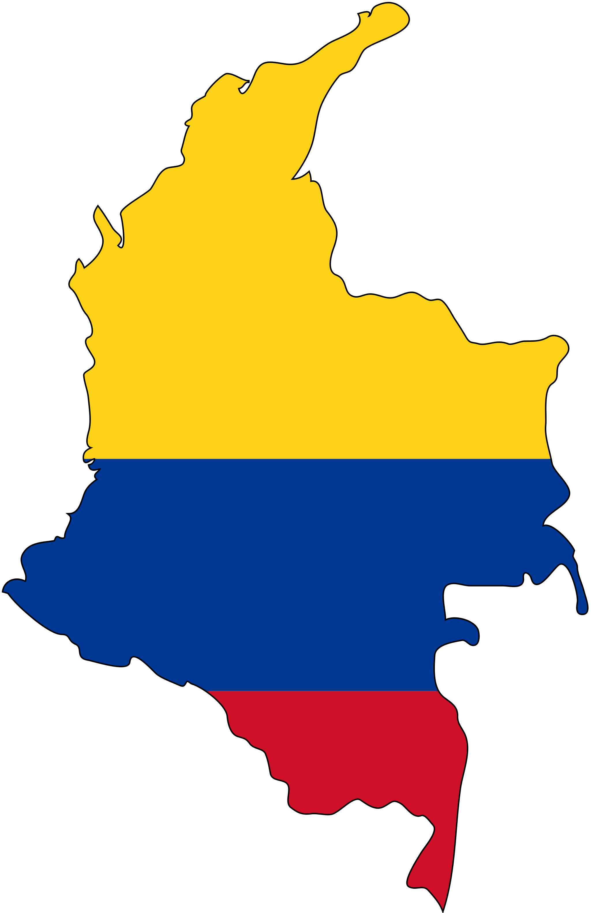 Colombia Flag Map large map