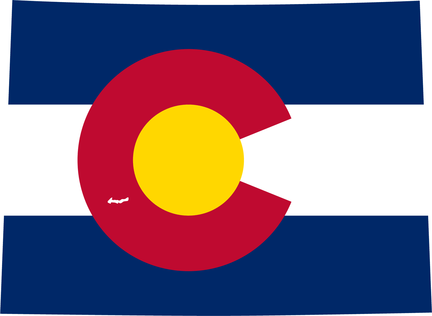 Colorado Flag Map large map