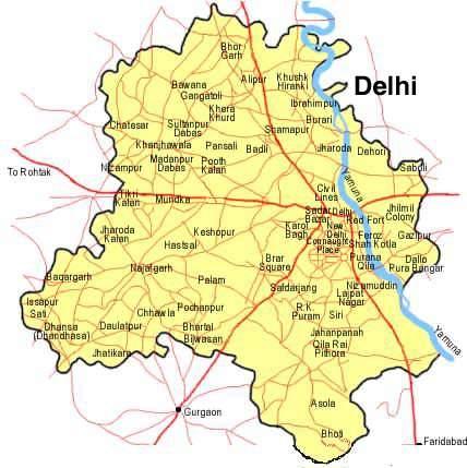 Delhi Map 1 - Mapsof.net