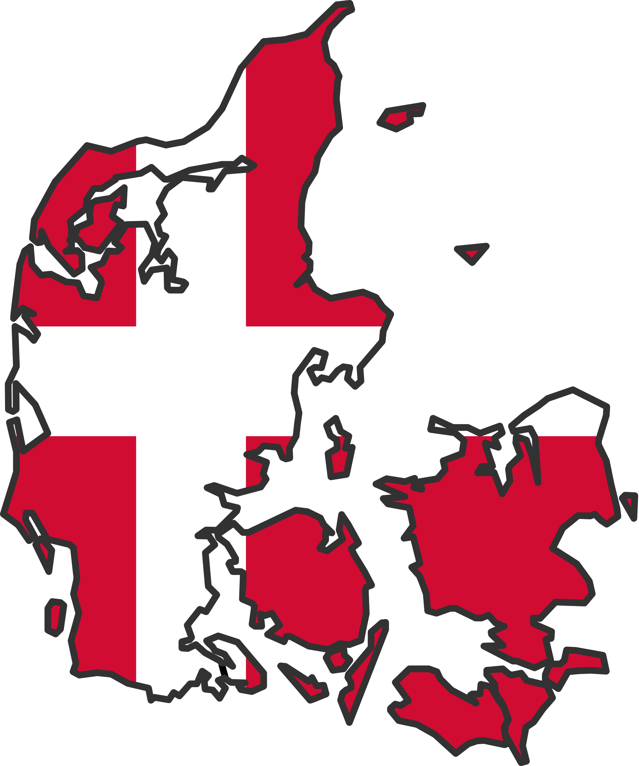 Denmark Flag Map Mapsof Net