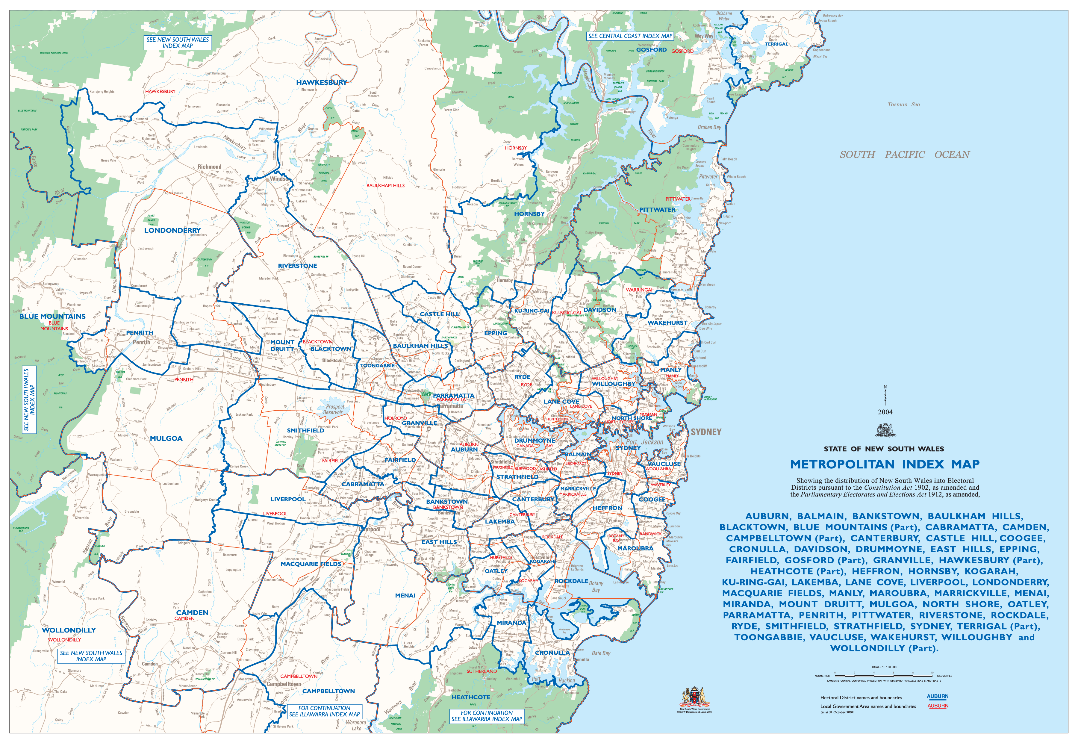 Detailed City Map Sydney Mapsofnet