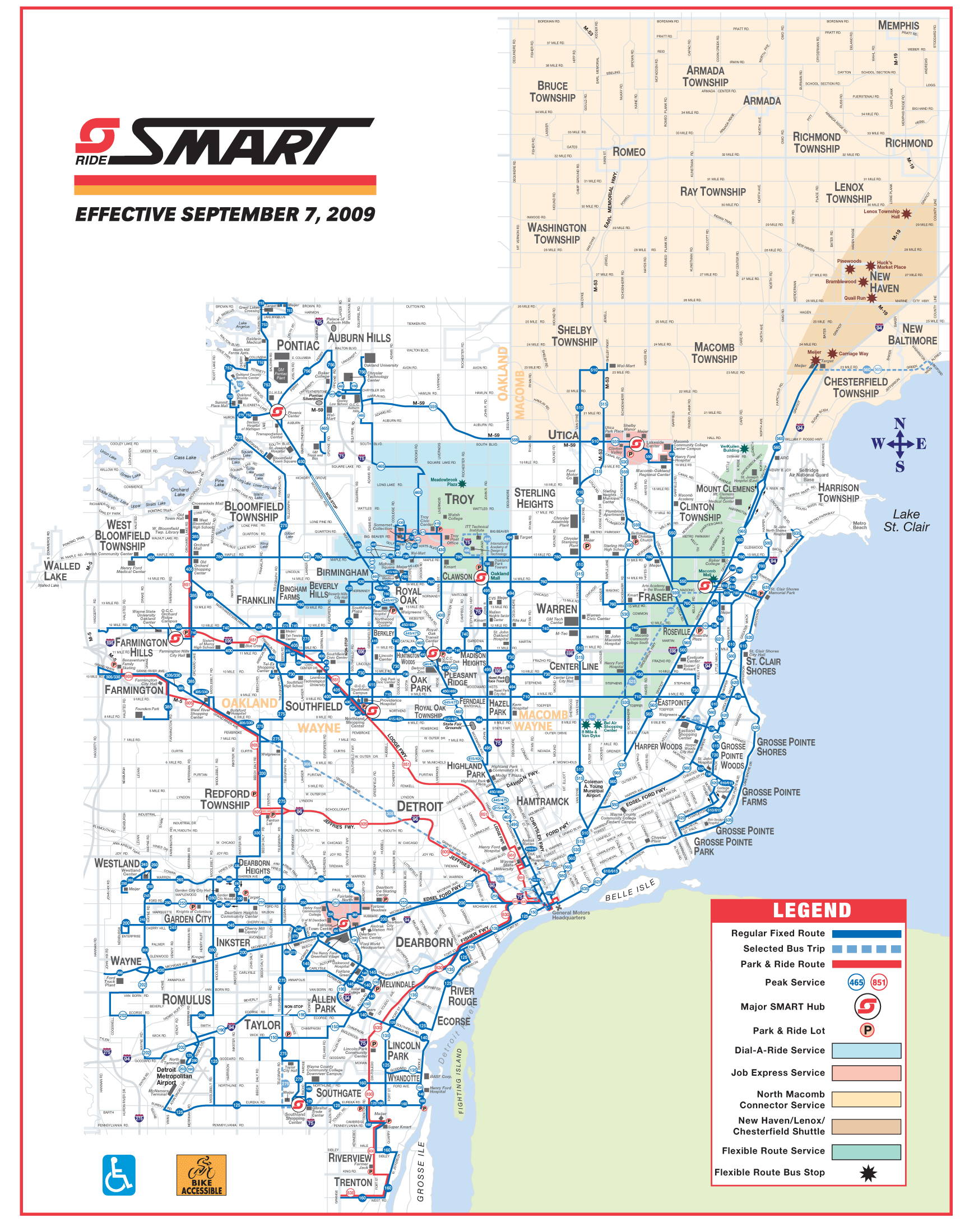 Detroit Bus Map (smart) • Mapsof.net