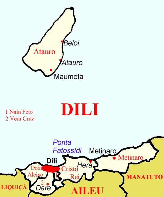 Dili Subdistricts large map