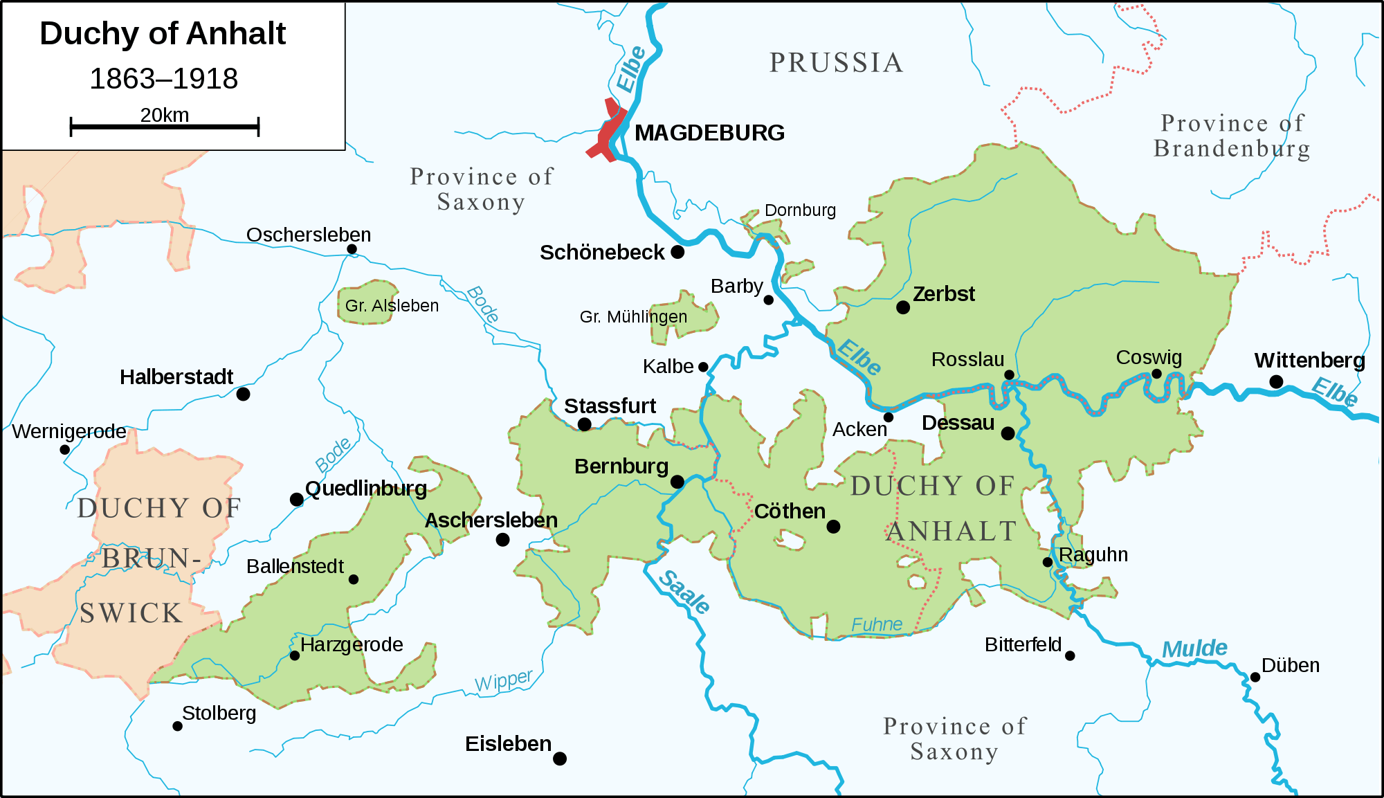 Map Of Germany In 1918.Duchy Of Anhalt 1863 1918 Mapsof Net