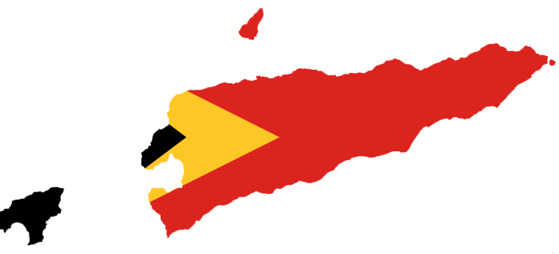 East Timor Flag Map large map