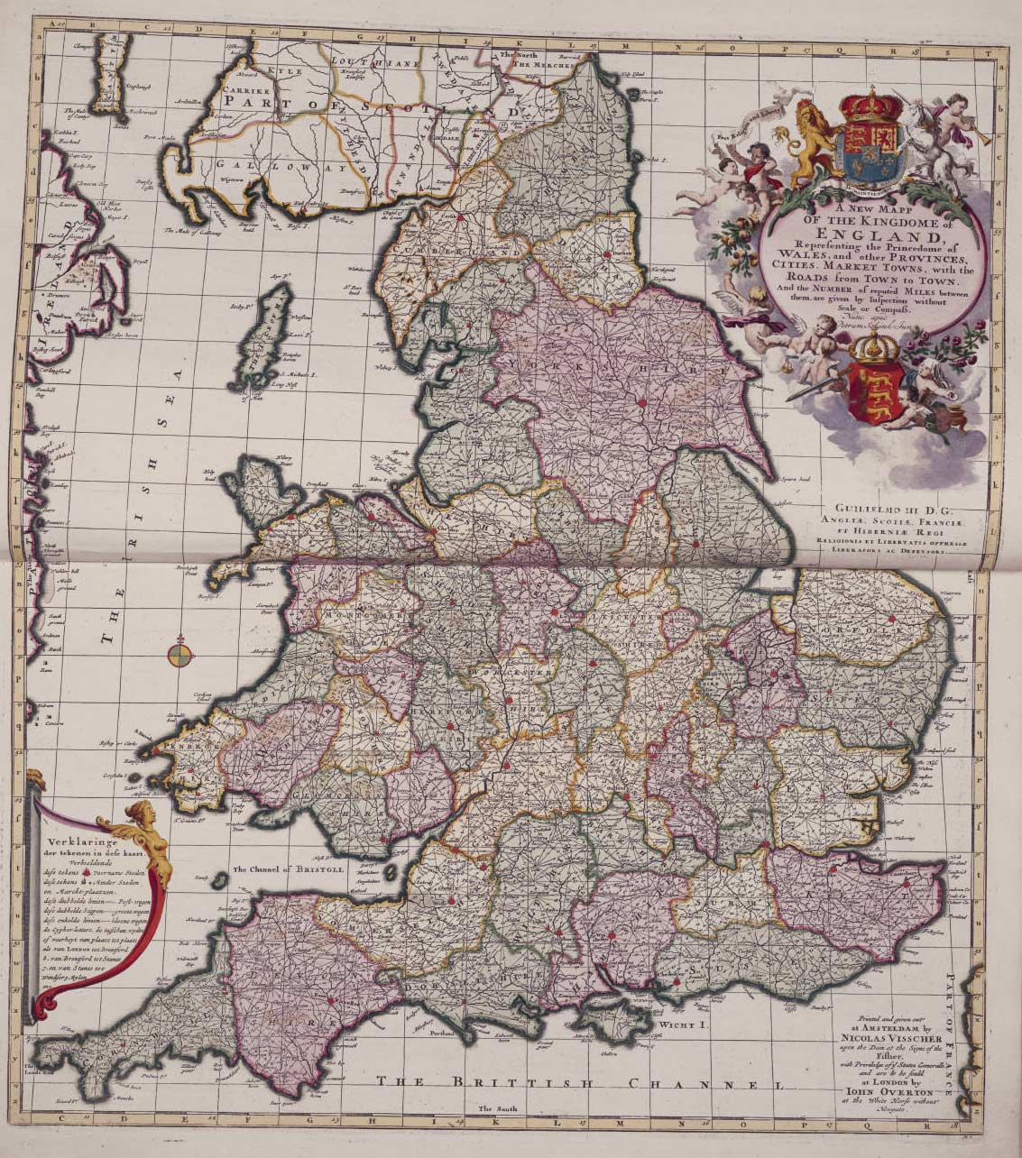 England Political And Historical Map large map